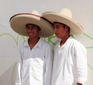 Two guys in white