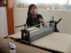 The youngest member of the solar plate graphics workshop