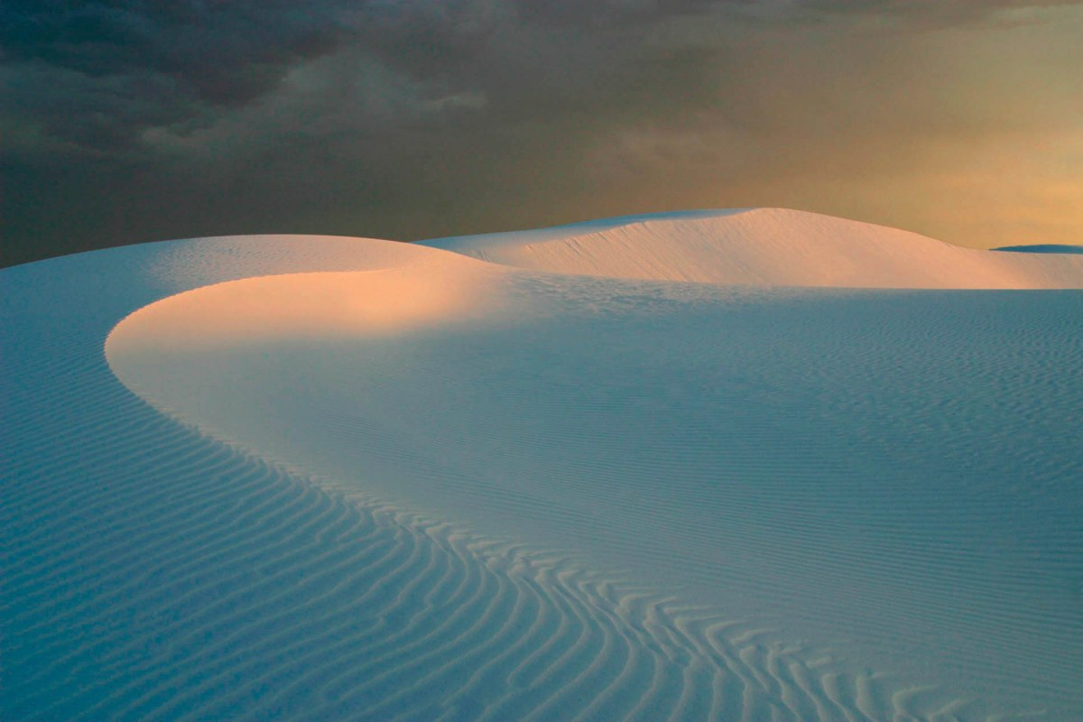 Late afternoon dunes with shadows
