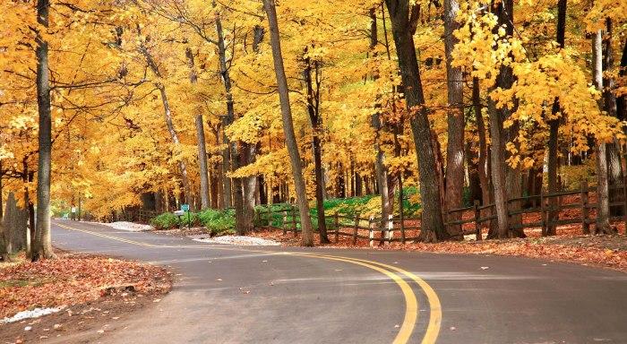 Fall colors in Lake Geneva, Wisconsin