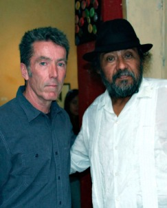 Professor Michael Flanagan with Maestro Juan Alcázar, the Coordinator of the Workshops in Oaxaca