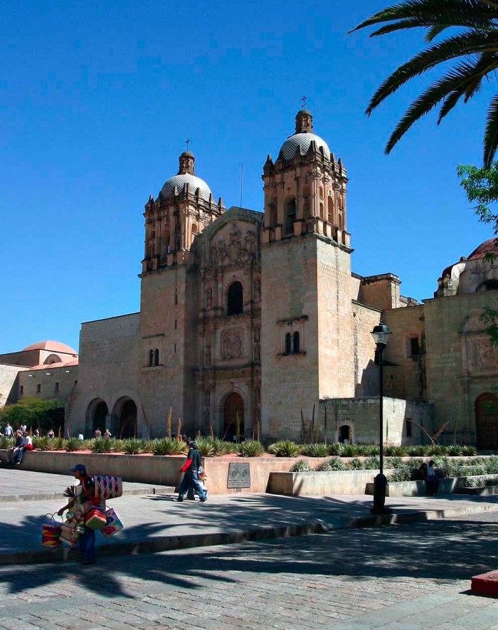 Front View of Santo Domingo Church in Oaxaca