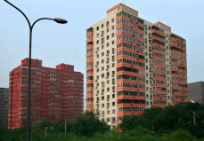 New large apartment buildings