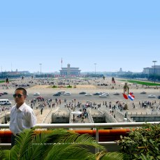 View of Tiananmen Square from the Main Gate to the Forbidden City