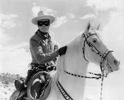 Clayton Moore as the Lone Ranger