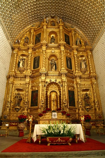 View of the Altar in Santo Domingo de Guzmán