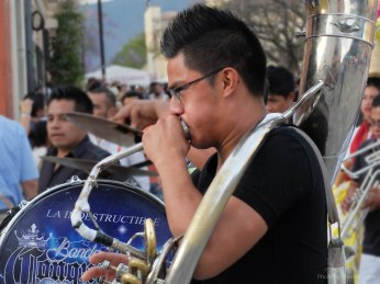 The Tuba Player Giving It His All